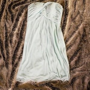 Mint Short David's Bridal Bridesmaid Dress